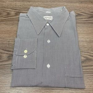 Lorenzo Uomo Grey Check Dress Shirt 17.5 34/35